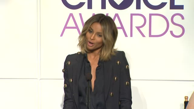 ciara announces the nominees at the 2014 people's choice awards nominations announcement in beverly hills 11/05/13 - people's choice awards stock videos & royalty-free footage