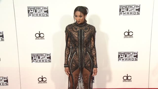 ciara at 2015 american music awards arrivals in los angeles ca - american music awards stock videos & royalty-free footage