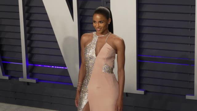 ciara at 2019 vanity fair oscar party hosted by radhika jones at wallis annenberg center for the performing arts on february 24 2019 in beverly hills... - ciara stock videos & royalty-free footage
