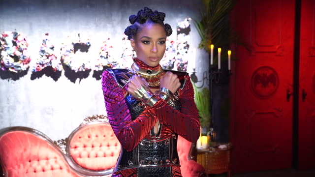 ciara at bacardi presents liberate your spirits with ciara for halloween in new york at villain on october 30 2018 in new york city - ciara stock videos & royalty-free footage