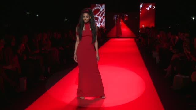 ciara at go red women red dress collection runway fall 2015 mercedesbenz fashion week at the theater at lincoln center on february 12 2015 in new... - ciara stock videos & royalty-free footage