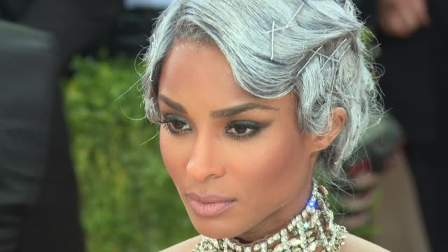 fashion in an age of technology costume institute benefit gala arrivals at metropolitan museum of art at the metropolitan museum on may 2 2016 in new... - ciara stock videos & royalty-free footage