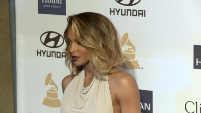 ciara at pregrammy gala salute to industry icons with clive davis honoring antonio la reid 2/9/2013 in beverly hills ca - 2013 stock videos & royalty-free footage