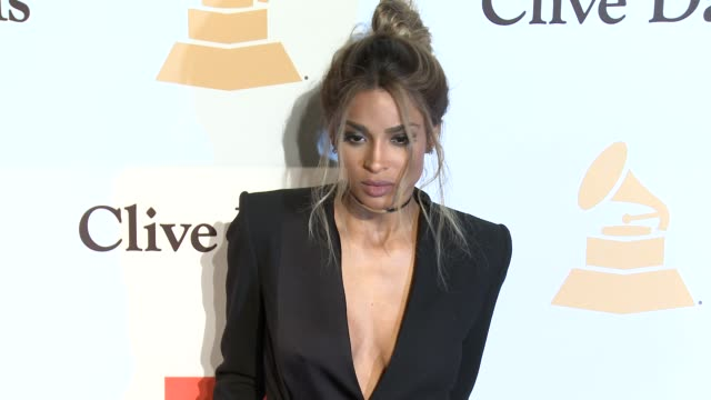 stockvideo's en b-roll-footage met ciara at the 2016 pregrammy gala and salute to industry icons honoring irving azoff at the beverly hilton hotel on february 14 2016 in beverly hills... - irving azoff