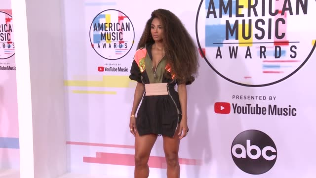 ciara at the 2018 american music awards at microsoft theater on october 09 2018 in los angeles california - american music awards video stock e b–roll