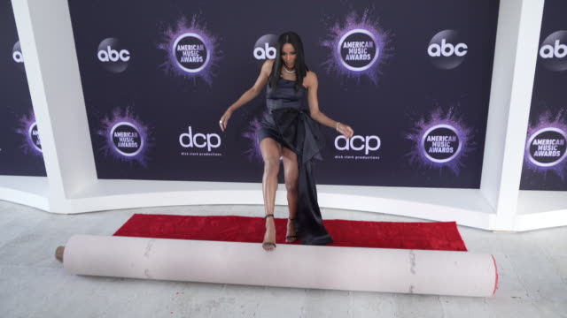 ciara at the 2019 american music awards red carpet roll out press day in los angeles ca - ciara stock videos & royalty-free footage