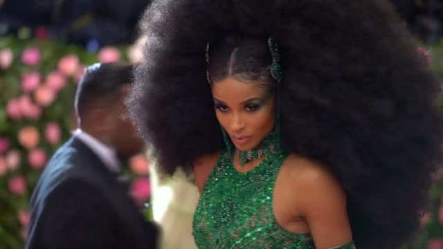 ciara at the 2019 met gala celebrating camp notes on fashion arrivals at metropolitan museum of art on may 06 2019 in new york city - ciara stock videos & royalty-free footage