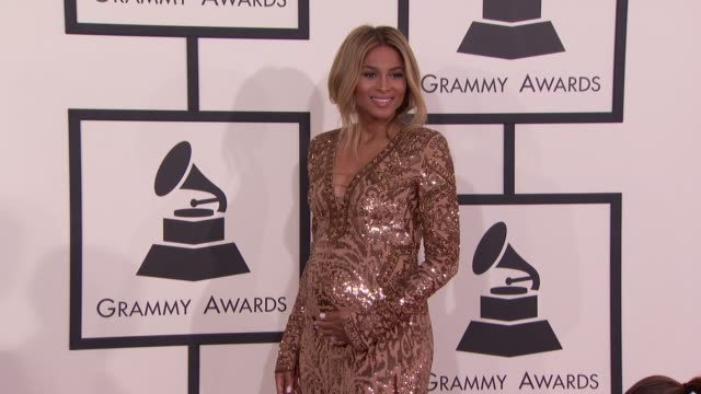 ciara at the 56th annual grammy awards arrivals at staples center on in los angeles california - ciara stock videos & royalty-free footage