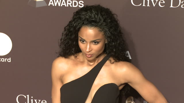 ciara at the clive davis' and the recording academy's pregrammy gala at the beverly hilton hotel on february 09 2019 in beverly hills california - ciara stock videos & royalty-free footage