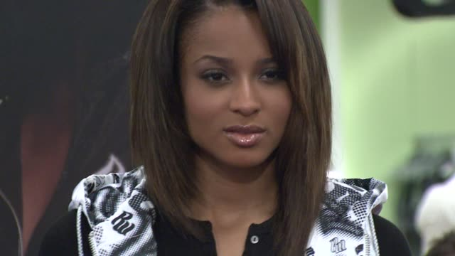ciara at the 'i will not lose' rocawear campaign at macy's herald square in new york new york on august 22 2007 - ciara stock videos & royalty-free footage