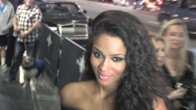 ciara at the playhouse in hollywood 02/14/11 at the celebrity sightings in los angeles at los angeles ca - playhouse stock videos & royalty-free footage