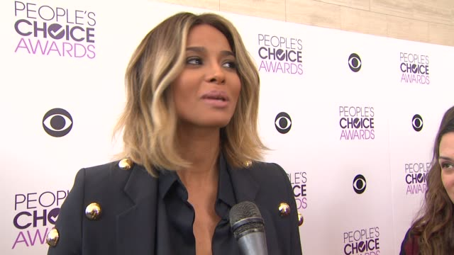 interview ciara on being at the event accents fan experiences at the 2014 people's choice awards nominations announcement in beverly hills 11/05/13 - people's choice awards stock videos & royalty-free footage