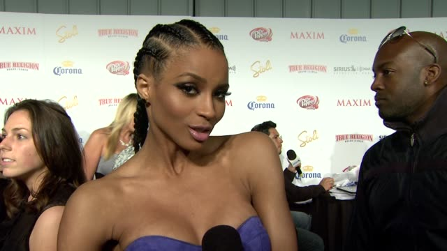 ciara on being on the list on what makes someone hot on who she liked seeing on the list on the party and on maxim hot 100's 10th birthday at the... - ciara stock videos & royalty-free footage