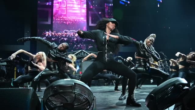 ciara performs onstage during bud light super bowl music fest / ea sports bowl at state farm arena on january 31 2019 in atlanta georgia - ciara stock videos & royalty-free footage