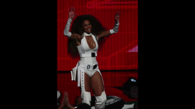 Ciara performs onstage during the 2018 American Music Awards at Microsoft Theater on October 09 2018 in Los Angeles California