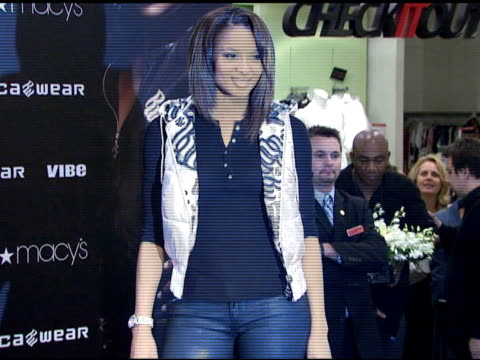 ciara promotes rocawears 'i will not lose' campaign at macy's herald square new york ny 8/22/07 in hollywood california on august 23 2007 - macy's herald square stock videos and b-roll footage