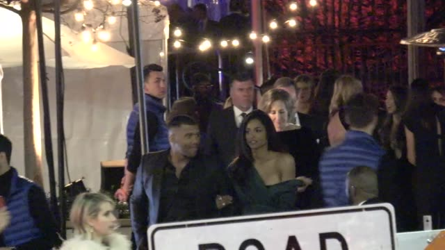 ciara russell wilson outside the vanity fair oscar party in beverly hills in celebrity sightings in los angeles - ciara stock videos & royalty-free footage