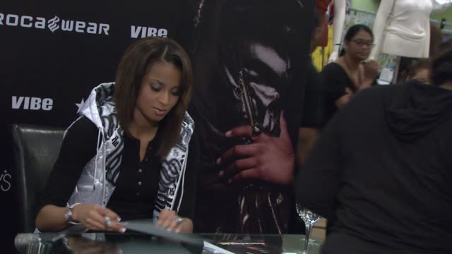 Ciara signs autographs for fans at the 'I Will Not Lose' Rocawear Campaign at Macy's Herald Square in New York New York on August 22 2007
