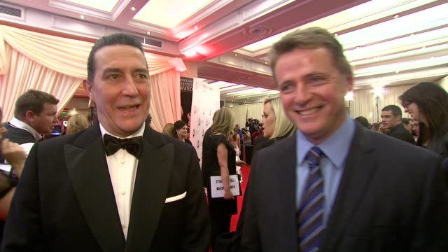 ciaran hinds and aidan quinn on the iftas and how much fun it is at the irish film television awards at dublin - aidan quinn stock videos & royalty-free footage