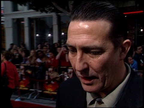 ciaran hinds at the 'sum of all fears' premiere at the mann village theatre in westwood california on may 29 2002 - レジェンシービレッジシアター点の映像素材/bロール