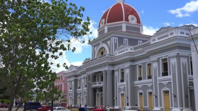 cienfuegos, cuba: historic centre surrounding the jose marti park in the cuban city - poder点の映像素材/bロール
