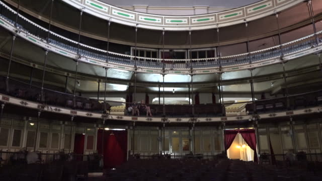 Cienfuegos, Cuba: Terry Theatre indoor view of the colonial style famous place part of the Unesco World Heritage Site