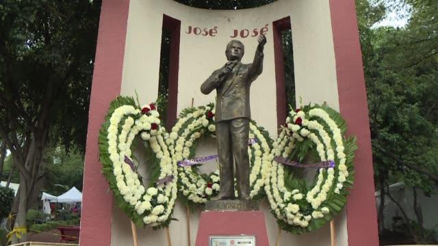 cientos de personas cantaron y lloraron el domingo al recordar al cantante mexicano jose jose durante el primer homenaje que mexico rinde a su idolo... - pancreas stock videos & royalty-free footage