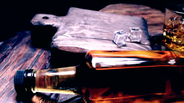 cigar and whiskey on dark brown wood - smelling stock videos & royalty-free footage