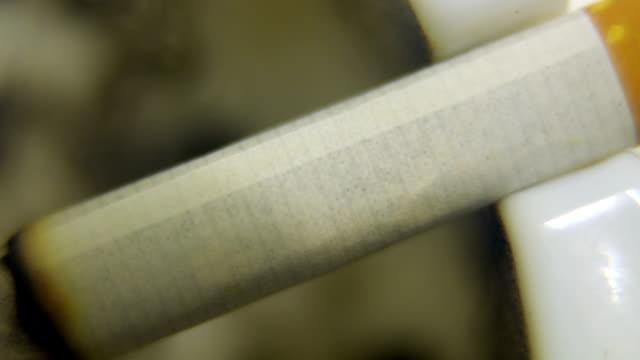 brennen in zigaretten aschenbecher - tabakwaren stock-videos und b-roll-filmmaterial