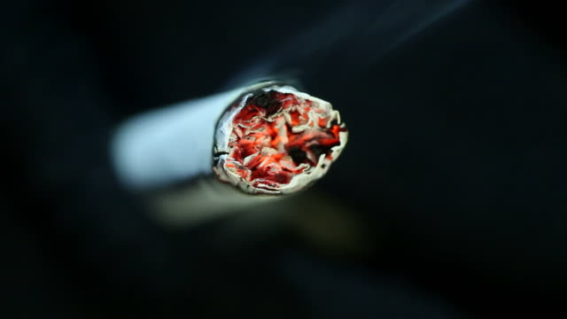cigarette burning - cigarette stock videos & royalty-free footage