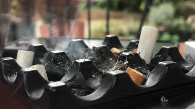 Cigarette Butts in a Ashtray