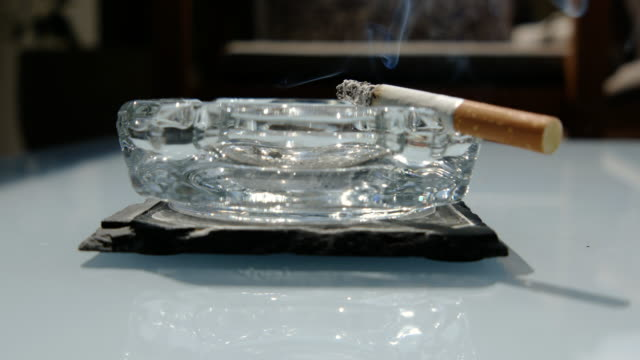 cigarette on ashtray - zigarette stock-videos und b-roll-filmmaterial