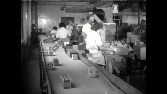 cigarette production line; 1951 - production line worker stock videos & royalty-free footage