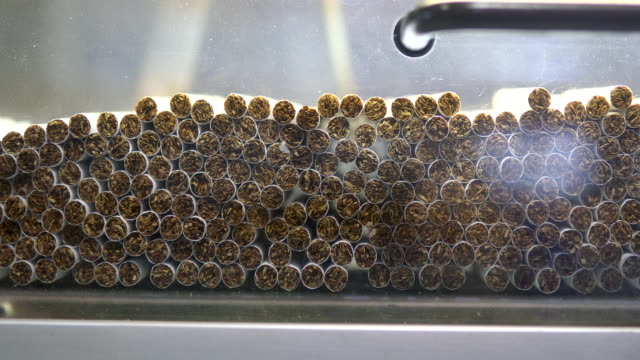cigarette production - cigarette stock videos & royalty-free footage