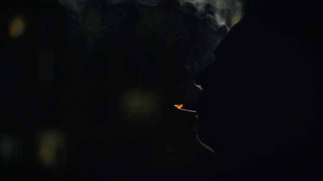 cigarette silhouette - silhouette stock videos & royalty-free footage