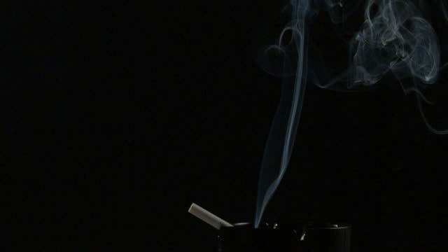 cigarette, smoke slow motion - black and white stock videos & royalty-free footage