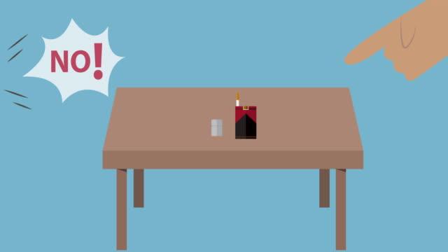 cigaretter animation, rökning - rökning förbjuden skylt bildbanksvideor och videomaterial från bakom kulisserna