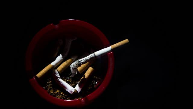 T/L 8K Cigarettes burning in the ashtray