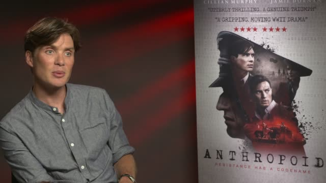 cillian murphy on his next movie 'dunkirk', his career, the success of 'peaky blinders' at 'anthropoid' interview at bfi southbank on august 30, 2016... - bfi southbank stock videos & royalty-free footage