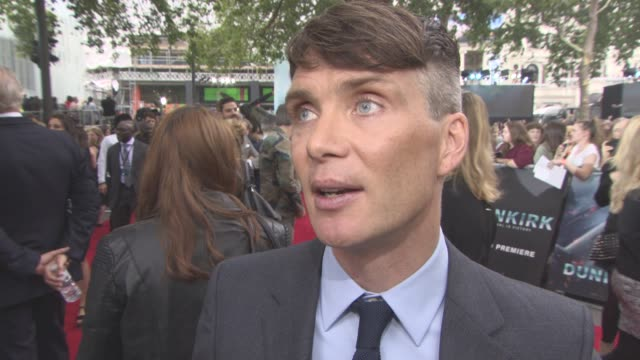 INTERVIEW Cillian Murphy on talking to Christopher Nolan working with Barry Keoghan Harry Styles at 'Dunkirk' World Premiere on July 13 2017 in...