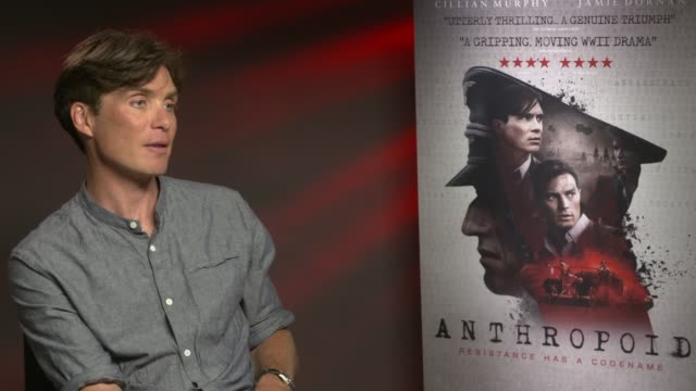 cillian murphy on working with jamie dornan, having metal friends and interests, what kind of actor he is like at 'anthropoid' interview at bfi... - bfi southbank stock videos & royalty-free footage