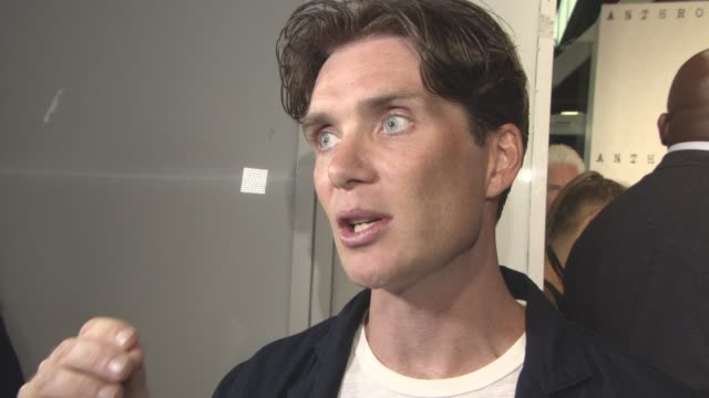 cillian murphy on working with jamie dornan, the story, talking to jamie dornan about fame, working with christopher nolan on 'dunkirk', what's next... - bfi southbank stock videos & royalty-free footage
