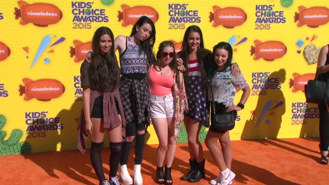 cimorelli at nickelodeon's 28th annual kids' choice awards at the forum on march 28 2015 in inglewood california - nickelodeon kid's choice awards video stock e b–roll
