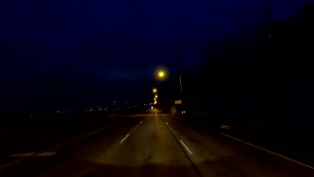 cincinnati viii synched series front view driving process plate night - driving plate stock videos & royalty-free footage