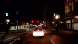 Cincinnati XI synched series Front view driving process plate night