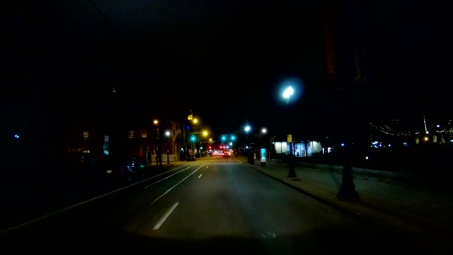 cincinnati xiii synched series front view driving process plate night - driving plate stock videos & royalty-free footage