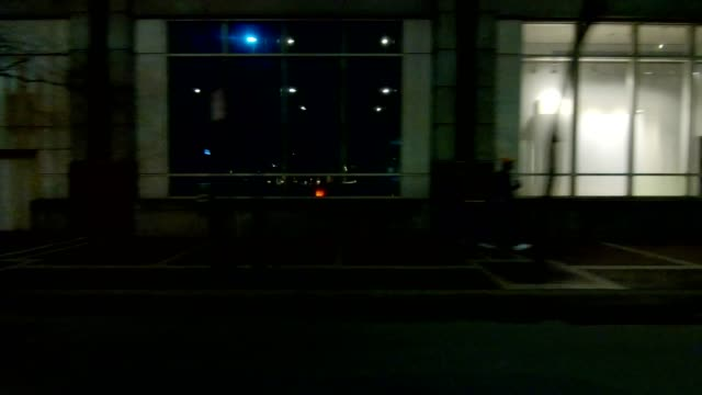 cincinnati xx synched series left view driving process plate night - other stock videos & royalty-free footage
