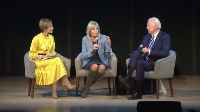 SPEECH Cindi Leive Dr Jill Biden and Joe Biden on his close relationship with Barak Obama at Glamour's Women Of The Year LIVE Summit at Brooklyn...