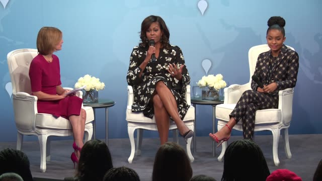 PANEL Cindi Leive Michelle Obama Yara Shahidi on empowering women and education at Glamour Hosts 'A Brighter Future A Global Conversation On Girls'...