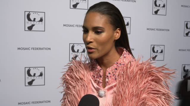 stockvideo's en b-roll-footage met cindy bruna on how her fashion week is going, on her support of the cause of this event to fight human trafficking, on the first step being awareness... - week